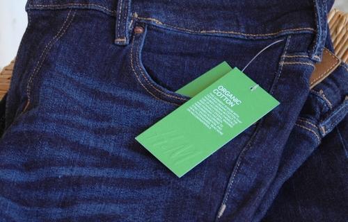 H&M - jean slim en coton biologique