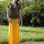 jupe couleur soleil